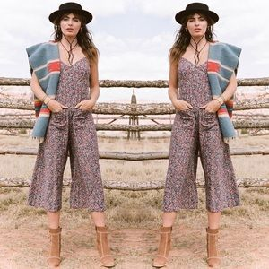 SPELL AND THE GYPSY NAVY FLORAL JASMINE JUMPSUIT